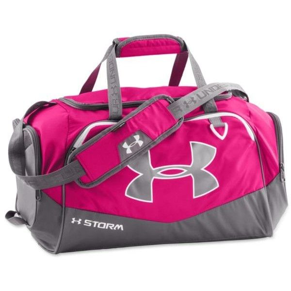Under Armour Tropic Pink Undeniable Ii- Small Duffle ( 40) ❤ liked on  Polyvore featuring bags f202be3770d