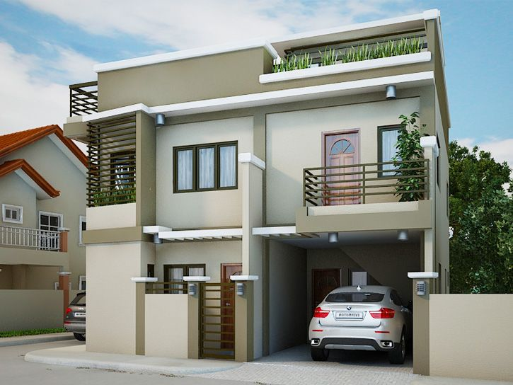 Home Design 2 Floor Part - 37: Collection: 50 Beautiful Narrow House Design For A 2 Story/2 Floor Home With