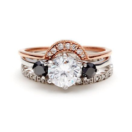Wedding ring and engagement ring different metals
