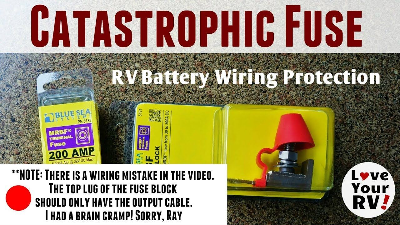 Installed a Catastrophic Fuse on My RV Battery Bank Rv