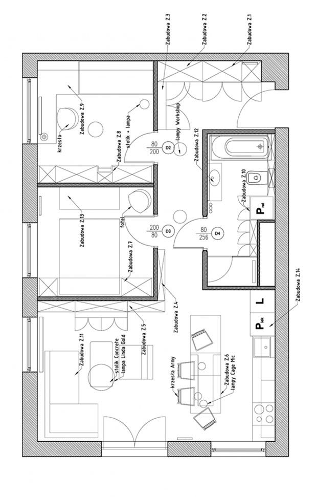 Comfy 60 square meter apartment in gda sk love tiny for Home design 84 square metres