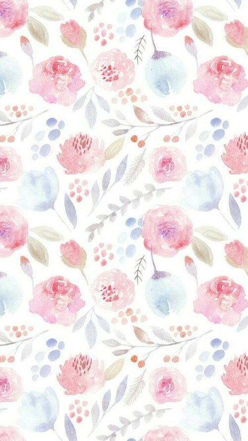 Wallpaper Background And Flowers Image Aquarela Wallpaper