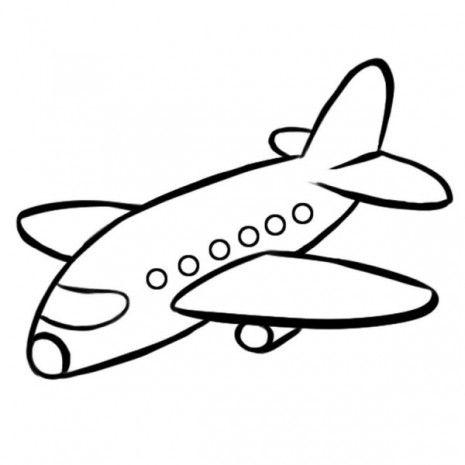 890 Dibujo Para Impirmir Y Pintar De Un Avion Desenhos Simples