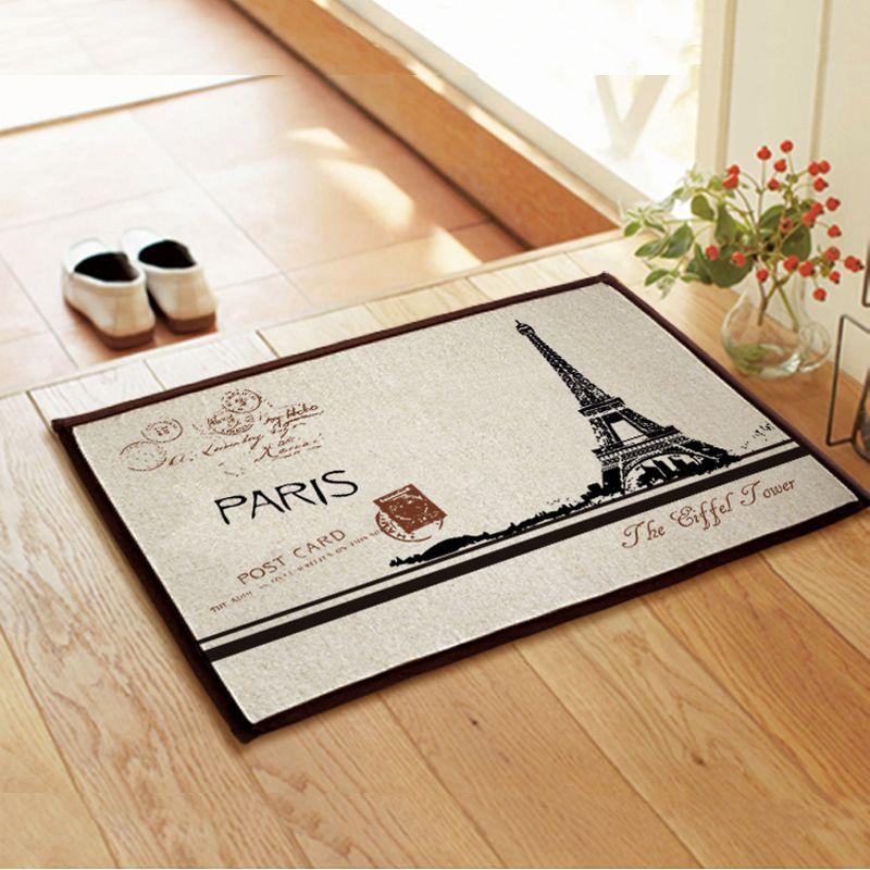 New Doormat Cartoon Paris Eiffel Tower Series Bedroom Carpet Bath Mats Super Soft Cartoon Floor Door Mat Rugs On Carpet Kitchen Carpet Patterned Carpet