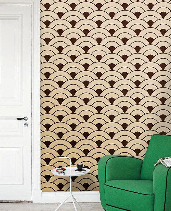 Removable Vinyl Self Adhesive Modern Wallpaper Wall Sticker Rising Suns Pattern C003 Vinyl Wallpaper Modern Wallpaper Wall Wallpaper