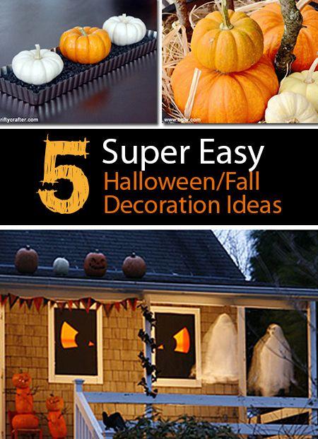 5 Super Easy, 'Un-Gaudy' #Halloween/Fall Decoration Ideas