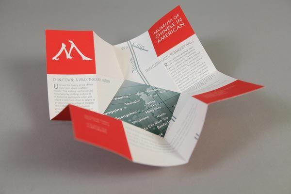 exhibition museum brochure design folded pinterest brochure