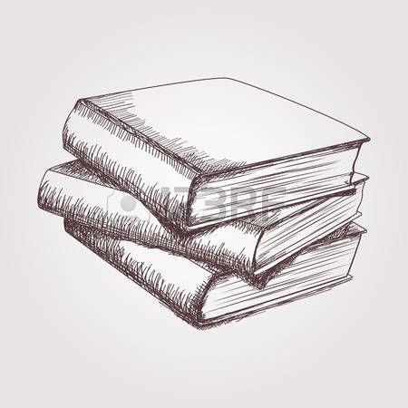 Dibujo Vectorial De La Pila De Libros En 2019 Dibujos Dessin