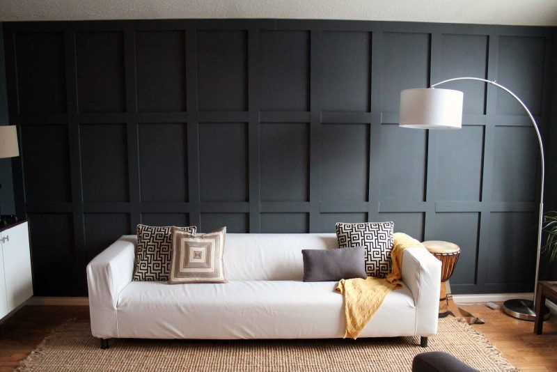 21 Inspirationen Für Holz Wandverkleidung Für Jeden Raum. Wandgestaltung  WohnzimmerWandgestaltung IdeenSchwarze ...