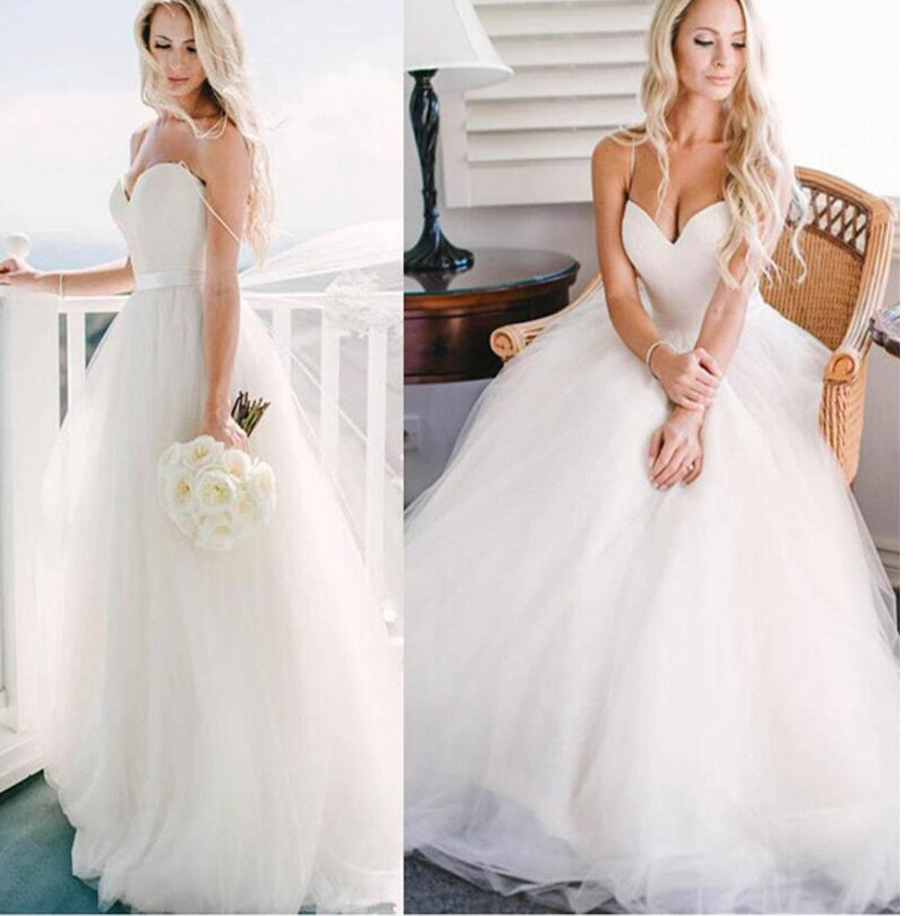 Modest Wedding Gowns: 2017 New Simple Sweetheart Ball Gown Modest Wedding