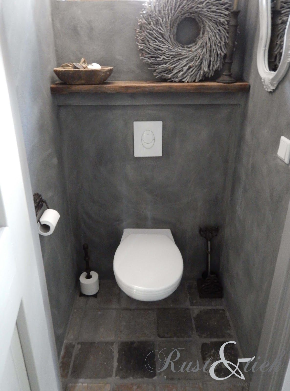 Inspiration d co pour des toilettes design d coration for Decoration wc gris