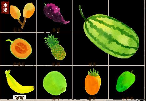 好食曆_穀雨 Watermelon, Fruit, Cantaloupe