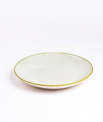 BLOOMINGVILLE carla plate pattern green / Platte Grün