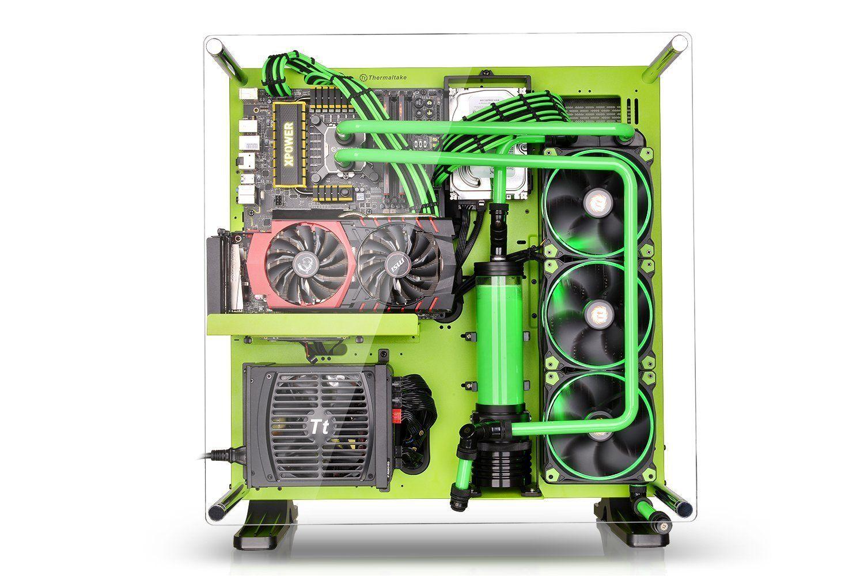 Amazon Com Thermaltake Core P5 Green Edition Atx Open Frame Mid