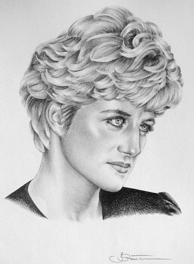 Princess Diana Image By Val S On Coloring Pages Pencil Drawings