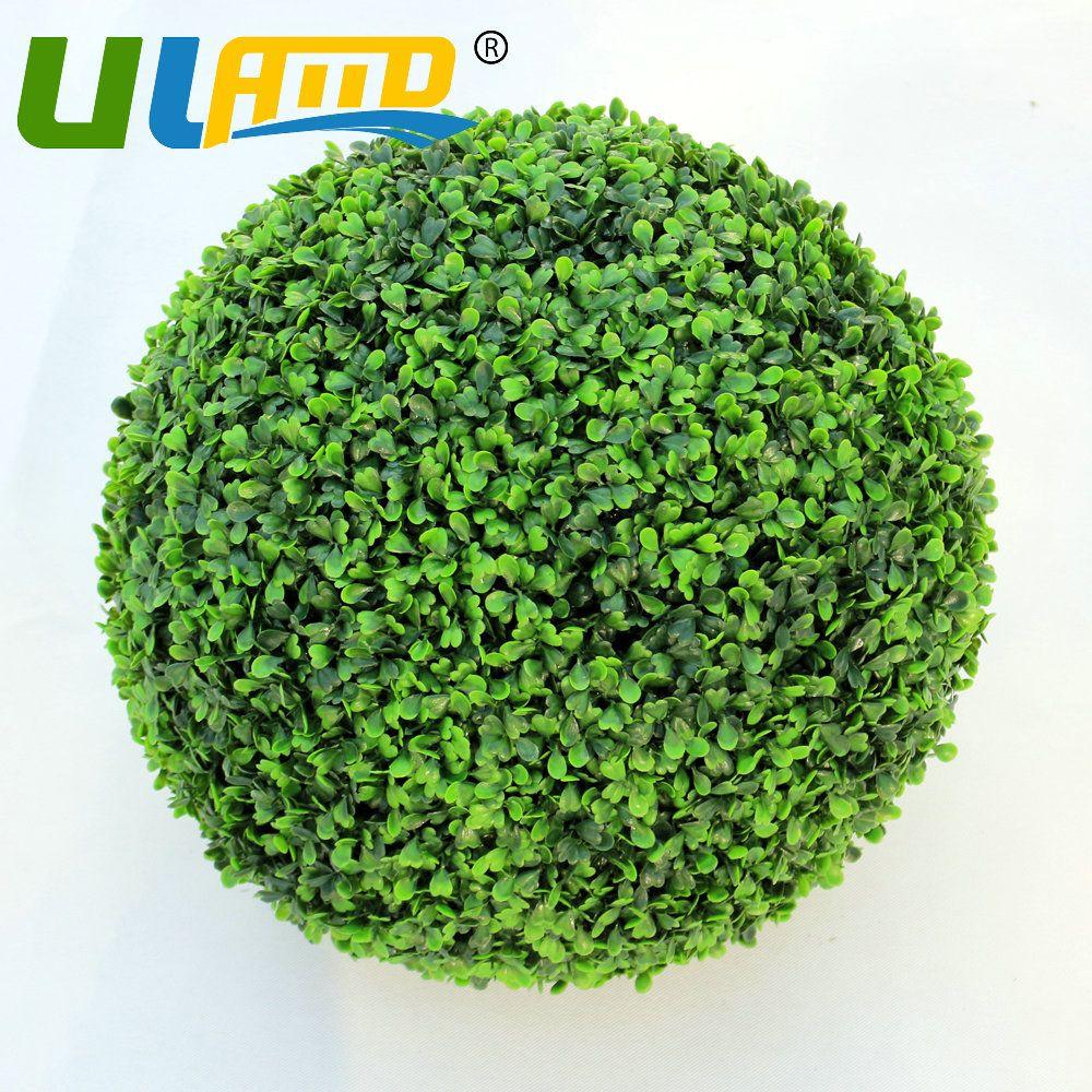 ULAND Oudoor Artificial Boxwood Ball Grass Balls Topiary Hanging Plastic  Green Garden Wedding Decoration 18 28 38 48 CM Diameter #Affiliate
