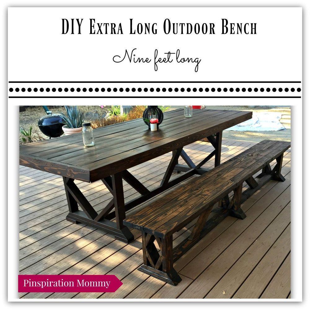 Diy Extra Long Outdoor Wood Bench