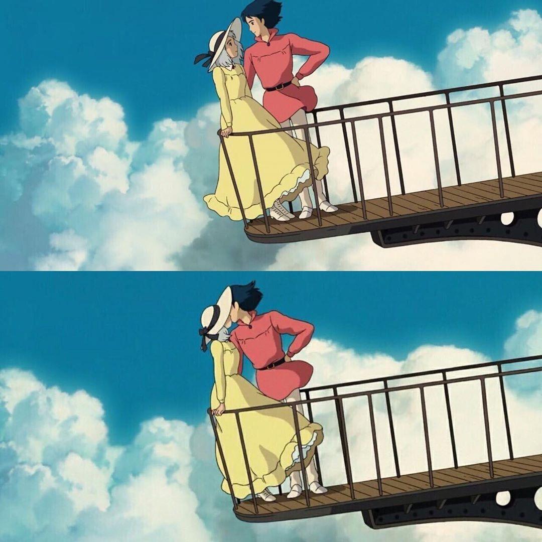 いいね 2 724件 コメント6件 Gbliii のinstagramアカウント ハウルの動く城 こんなに綺麗なキスシーンを見たことがないです Anime Movies Ghibli Studio Ghibli