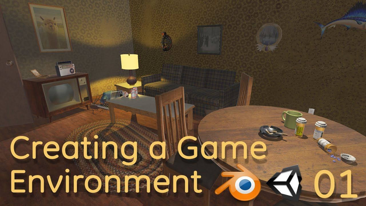 Creating A Game Environment In Blender And Unity 01 Blender