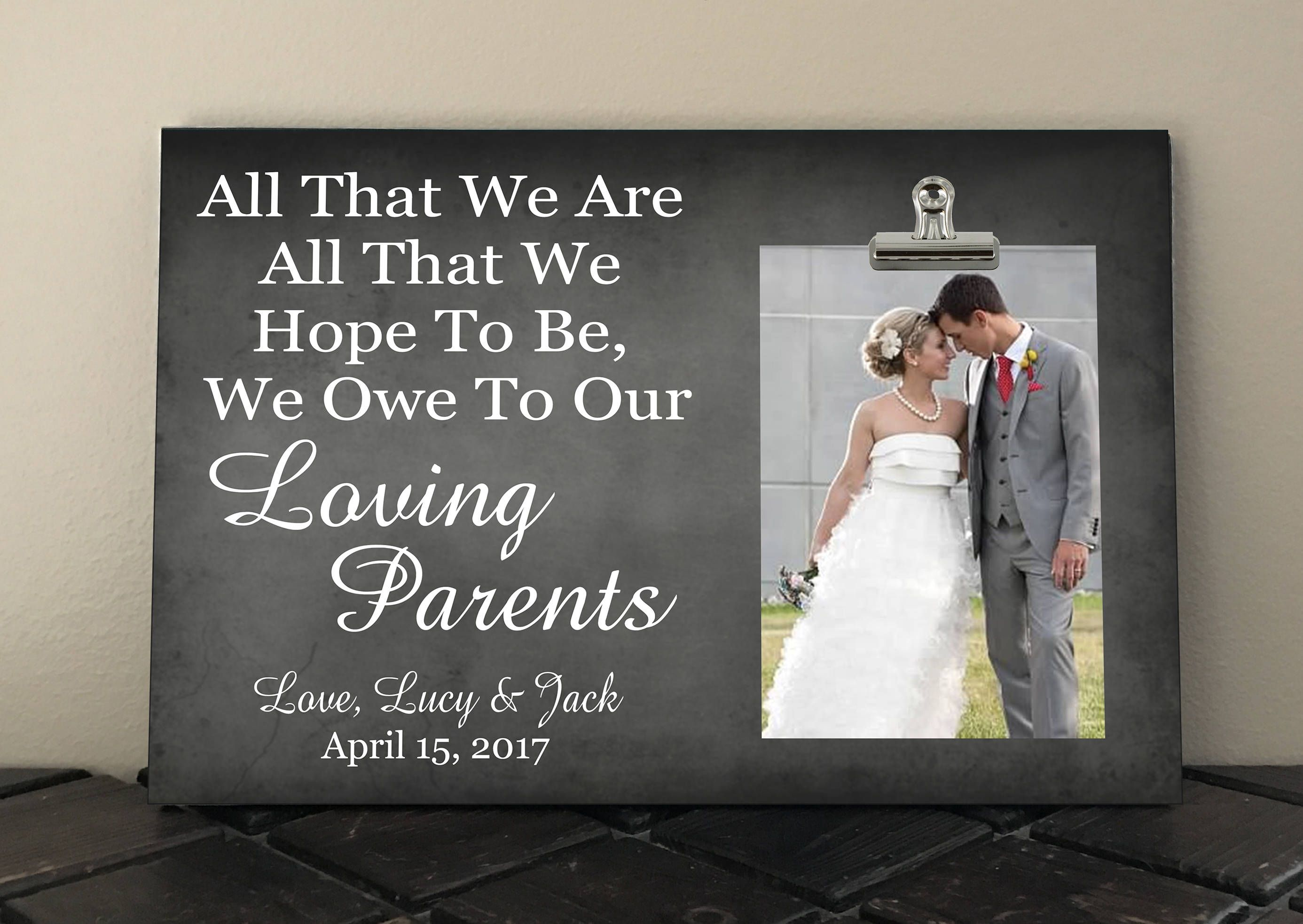 Wedding Gift For Parents Free Design Proof And Personalization All