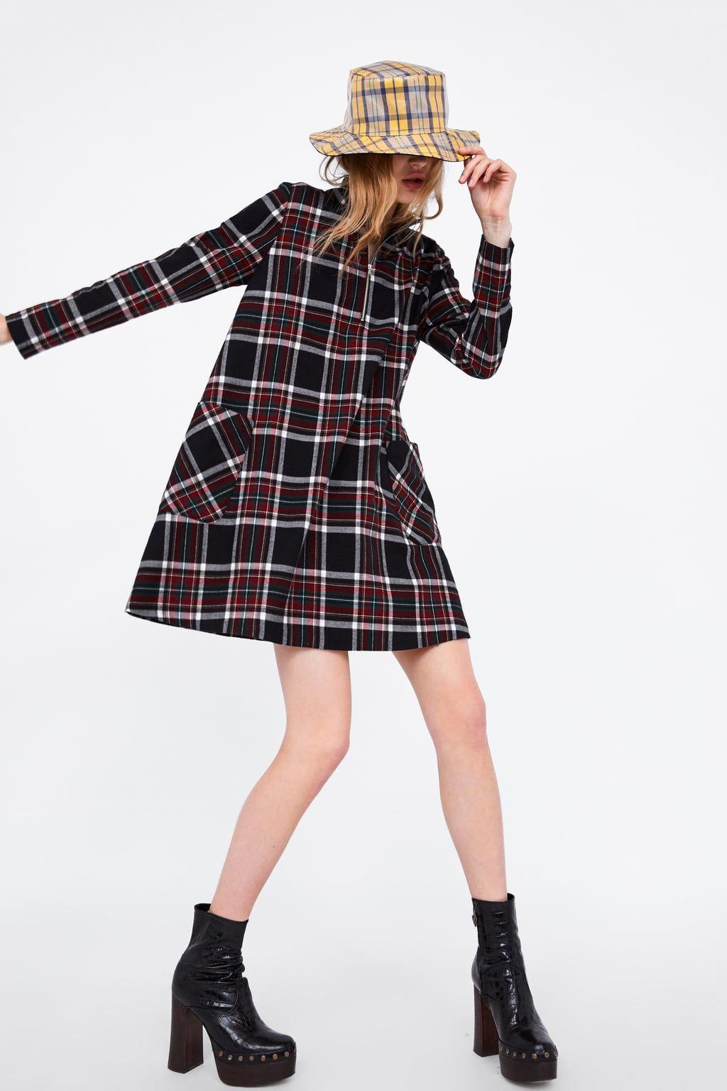 Vestido Cuadros Kariertes Kleid Kleider Damen Modestil
