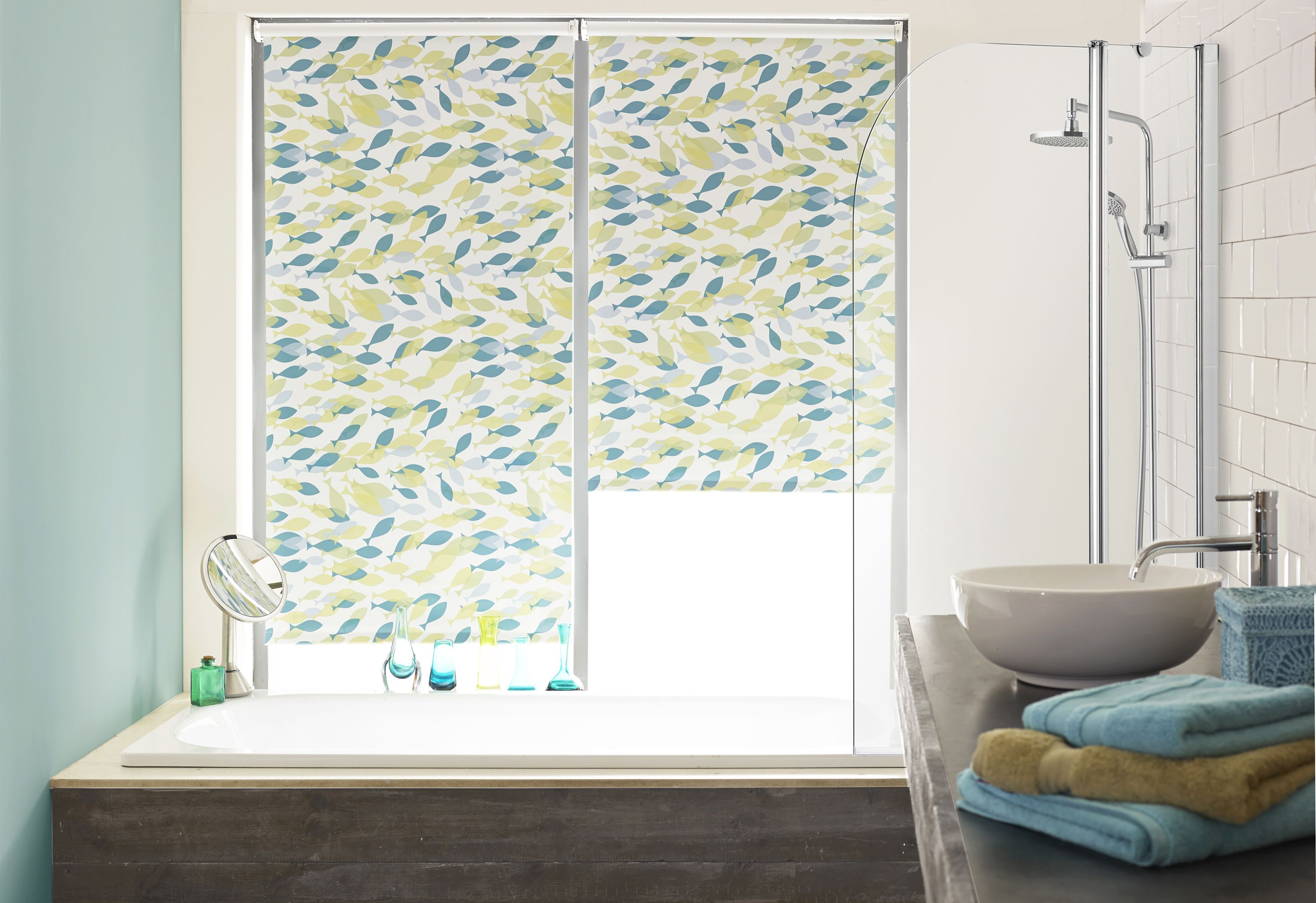 Guaranteed To Bring A Smile To The Face Of Everyone Who Sees It - Waterproof roller blind for bathroom for bathroom decor ideas