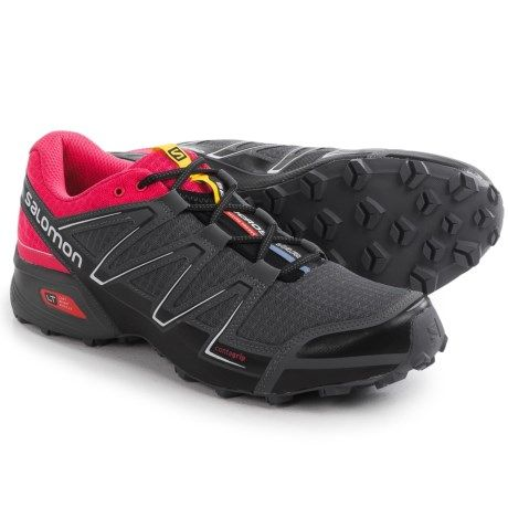 30de0c44c45e Salomon Speedcross Vario Trail Running Shoes (For Women) in Black Hot Pink  Dark Cloud