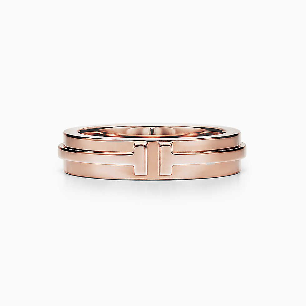 ea1159136 Tiffany T Two narrow ring in 18k rose gold. | Jewelry for the Jewish ...
