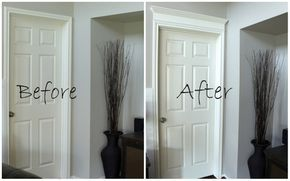 Making Your Doors Pretty With Molding And A How To Home