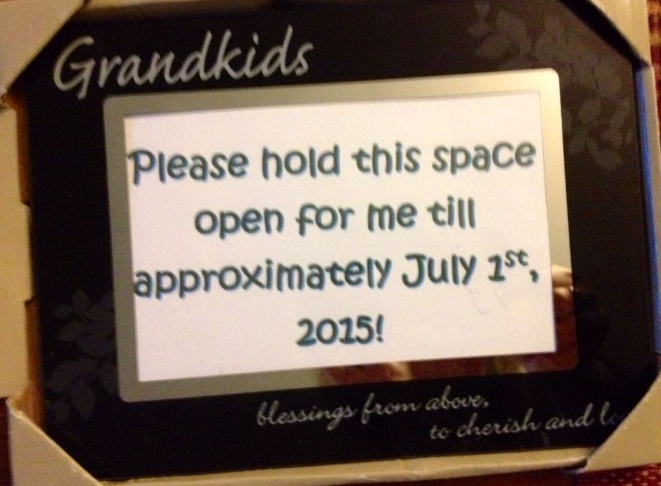 Included in the reveal package to grandparents Since there is no – Electronic Baby Announcements
