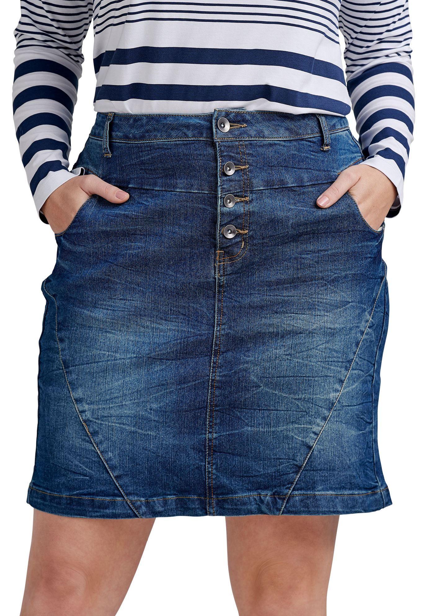 86b31810d Distressed Denim Skirt Plus Size – DACC