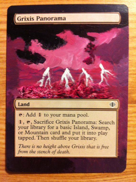 Hand-Painted Grixis Panorama, perfect for any Grixis EDH