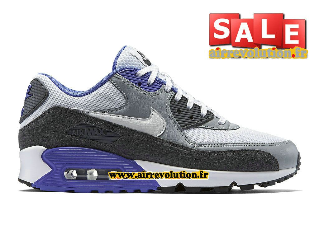 54e67671784d6 NIKE AIR MAX 90 ESSENTIAL - CHAUSSURE NIKE SPORTSWEAR PAS CHER POUR HOMME  Blanc Argent