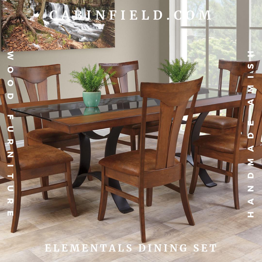 Elementals Amish Dining Room Set Dining Room Furniture Dining Sets Modern Dining Room Furniture Sets