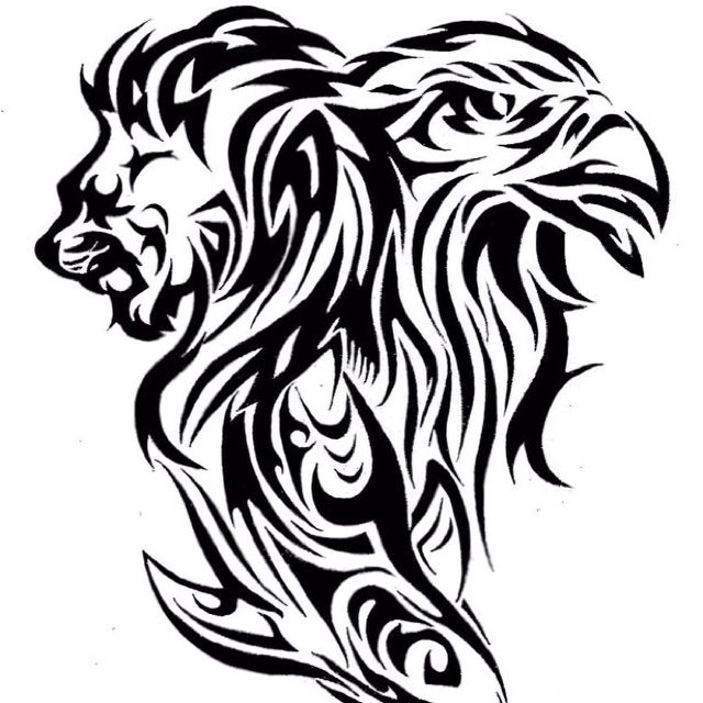 Tattoo Design Of A Lion Eagle And Shark Lion Tattoo Design Eagle Tattoos Lion Tattoo