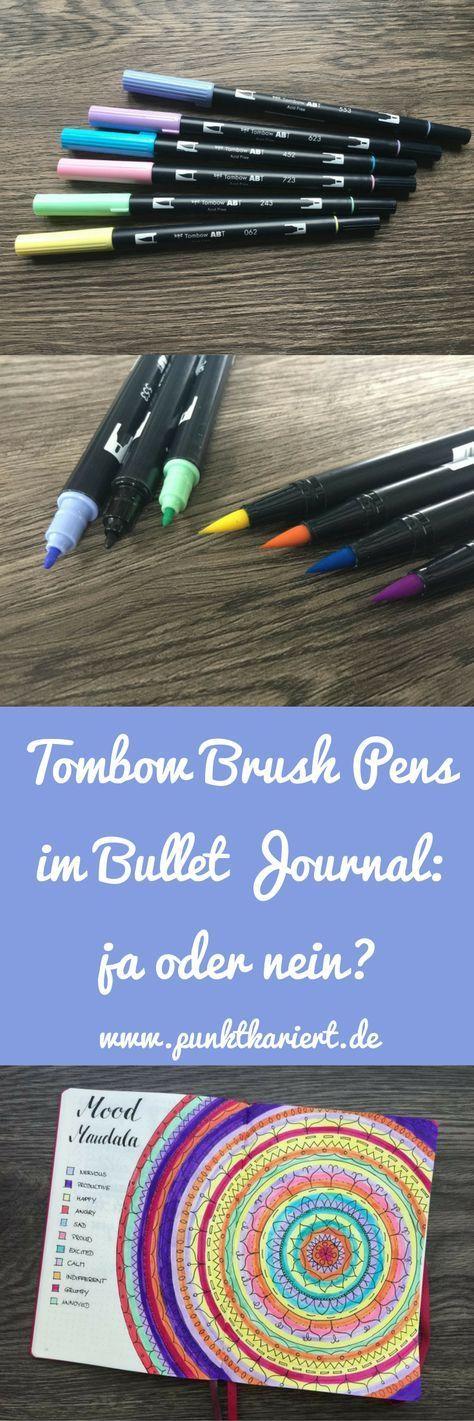 Tombow Dual Brush Pens Perfekte Bullet Journal Stifte Bullet