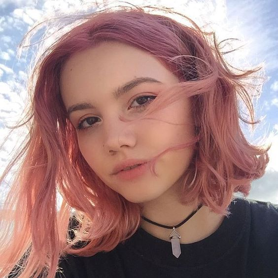 medium hair style pictures ig florencexrose makeup pink hair hair 6486