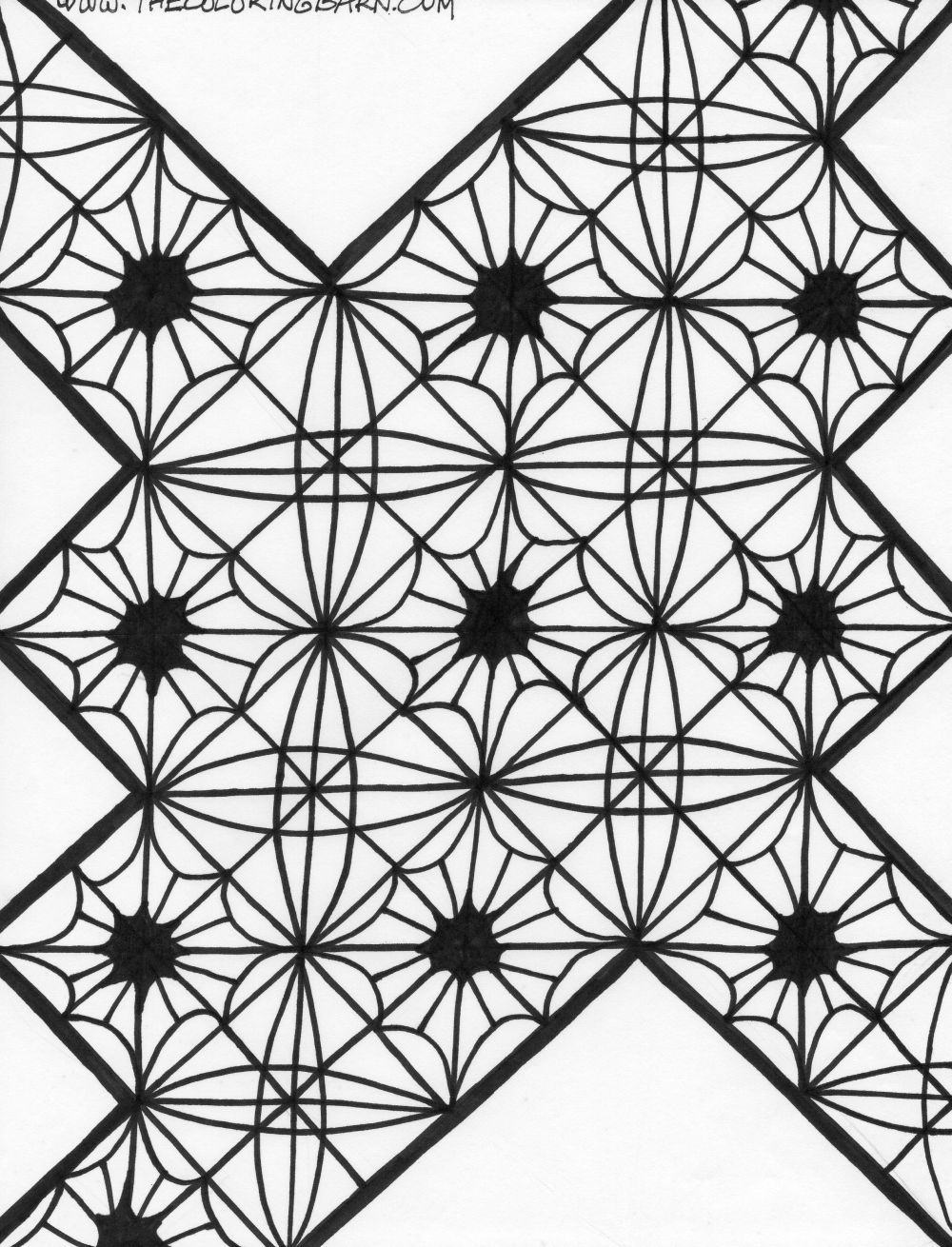 Free coloring pages kaleidoscope designs - Kaleidoscope Coloring Pages