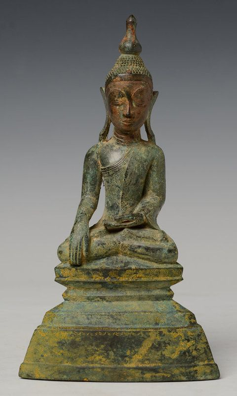 18th Century, Shan, Burmese Bronze Sitting Buddha More @ FOSTERGINGER At Pinterest