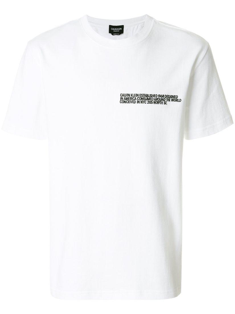 f394ccb8198 CALVIN KLEIN 刺绣细节T恤.  calvinklein  cloth