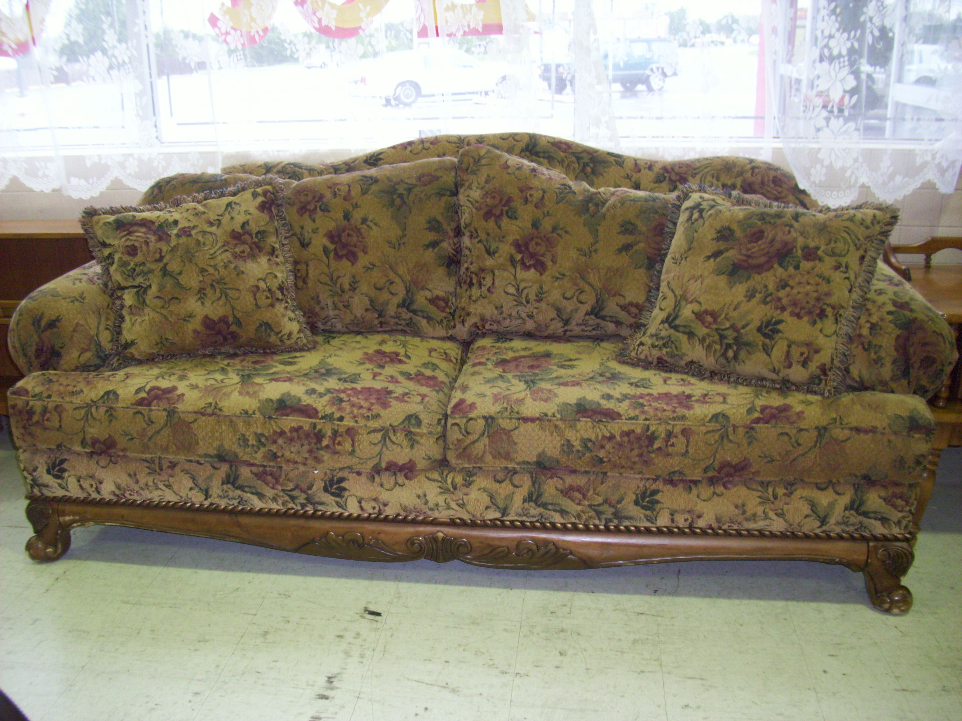 Charmant Floral Sofa Loveseat Set   SOLD   Consignment Furniture   Tulsa, OK