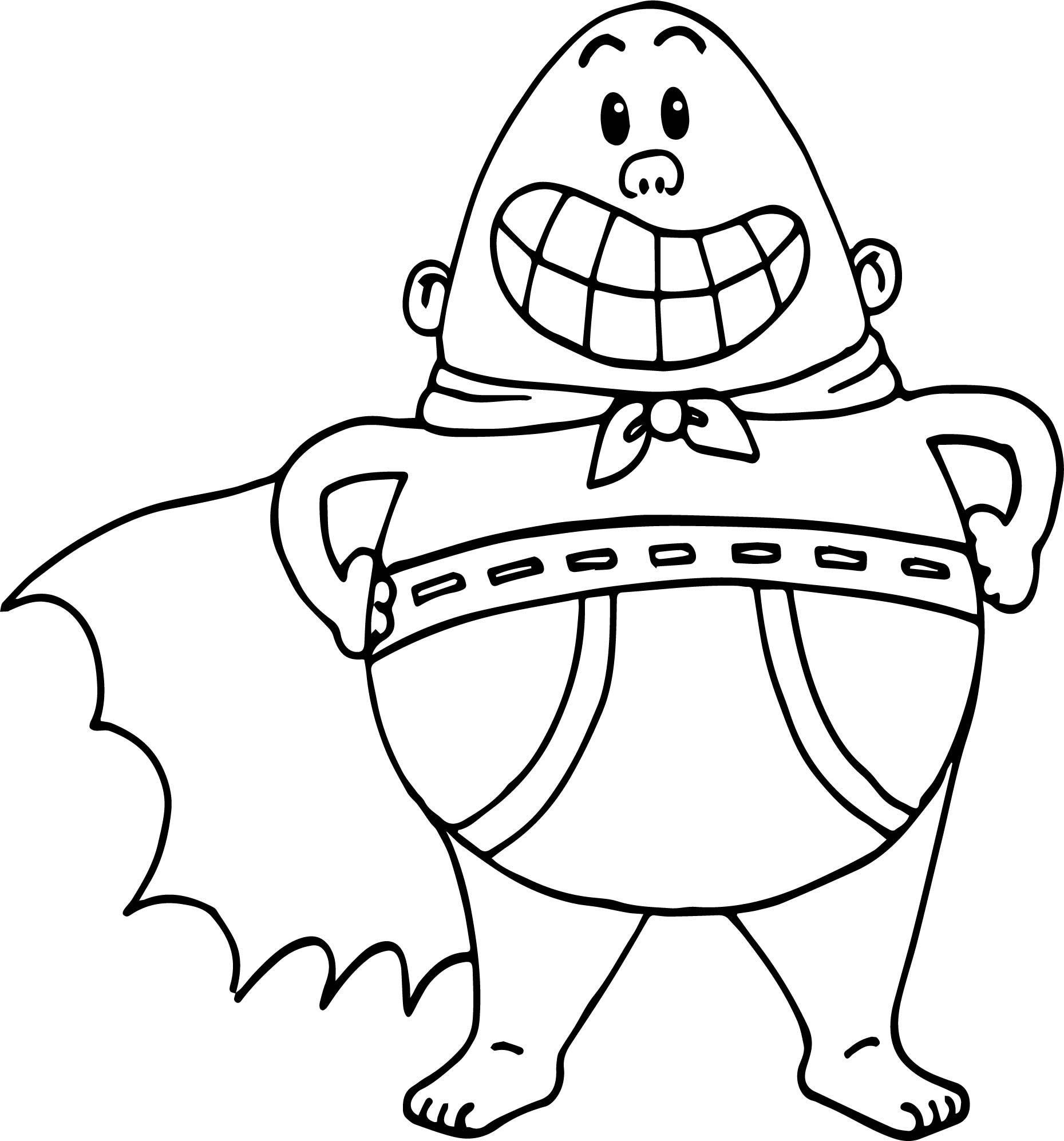 Captain Underpants Coloring Pages Luxury Awesome Captain
