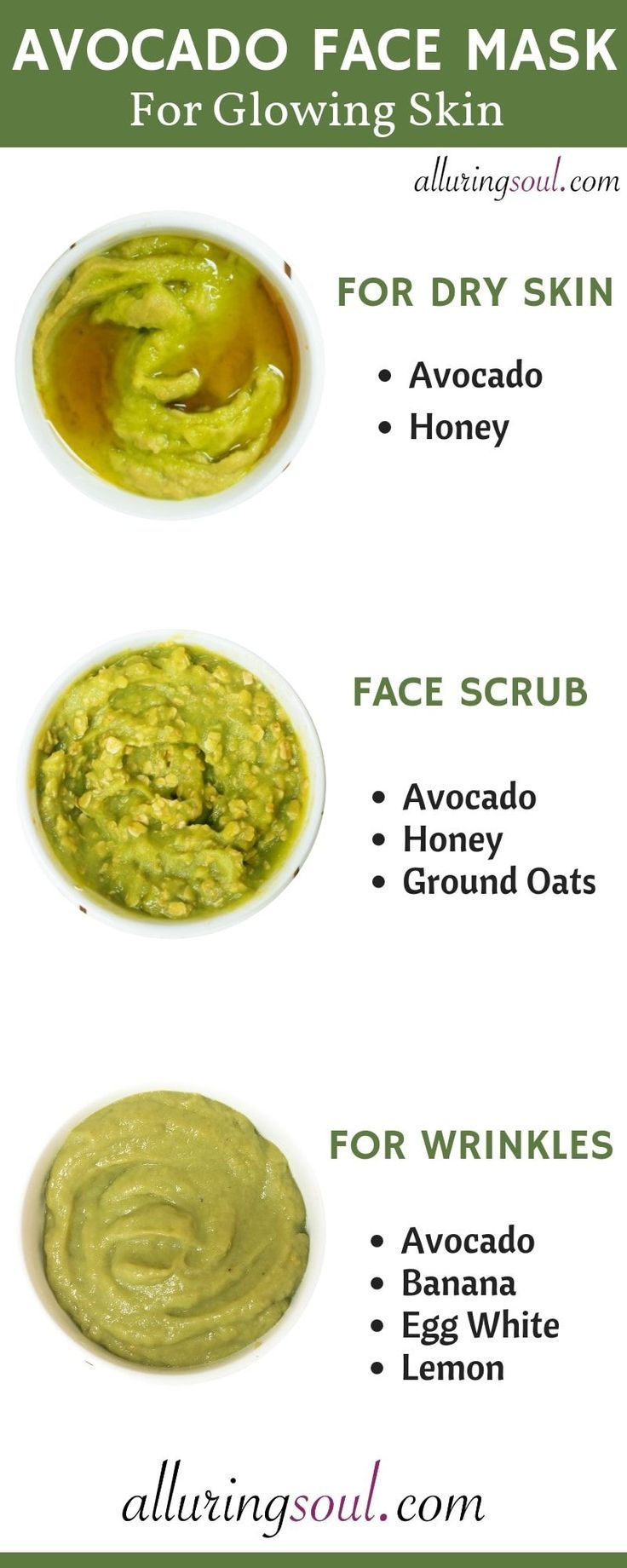 3 diy avocado face mask for dry aging dull skin