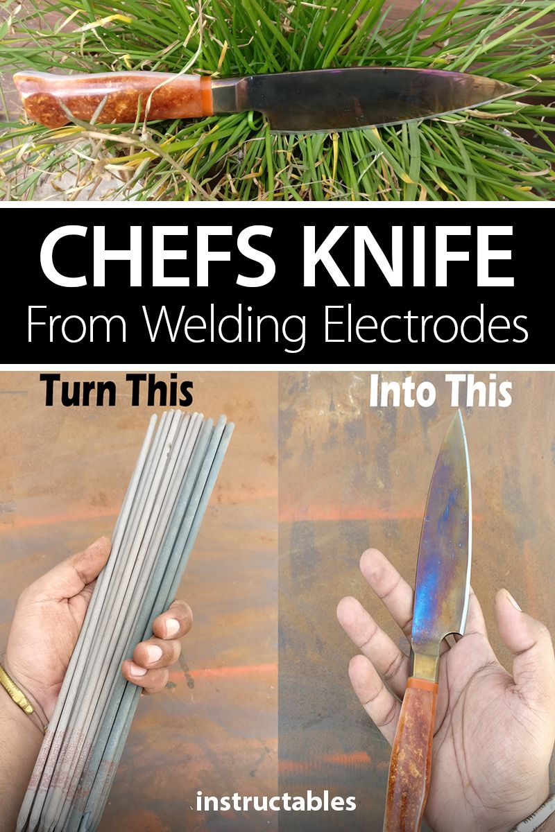 Chefs Knife From Welding Electrodes Welding electrodes