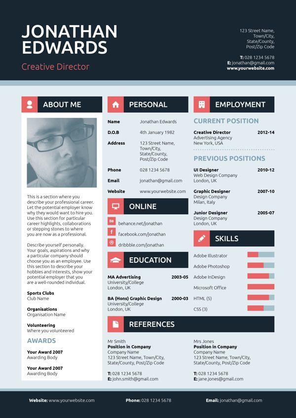 flat style resume cv on behance cv templates pinterest