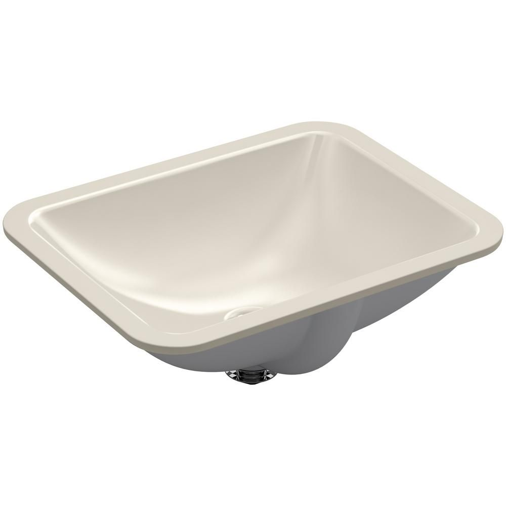 Kohler Caxton Rectangle Undermount Bathroom Sink In Sandbar K 20000 G9 The Home Depot Undermount Bathroom Sink Rectangular Sink Bathroom Bathroom Sink