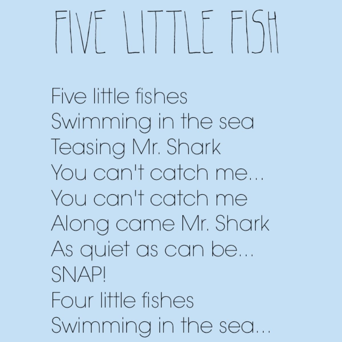 Fishy Songs Perfect For Ocean Week School Songs Classroom