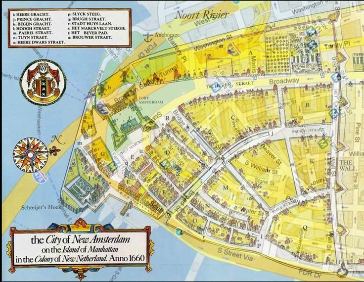 Modern New York Superimposed On Top Of Amsterdam Map Late: New Amsterdam Map At Infoasik.co