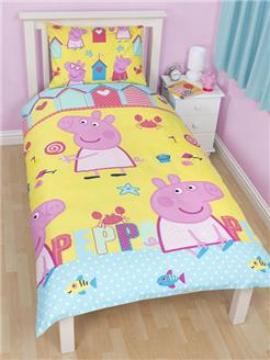 Peppa Pig Seaside Single Rotary Duvet Cover & Pillowcase