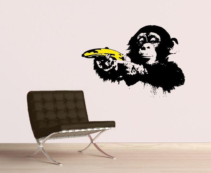 Banksy Denken Monkey Aufkleber Street Art Vinyl Dj Baksy